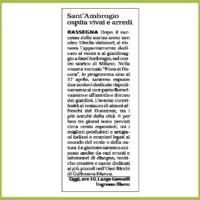 Libero - Sant'Ambrogio ospita vivai e arredi
